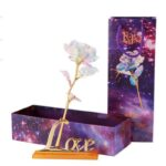 Drop Shipping Valentine_s Day Creative Gift 24K Foil Plated Rose Gold Rose