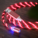 Glow LED Lighting Fast Charging Magnetic USB Cable for Xiaomi Redmi 8 8A (1)