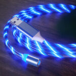 Glow LED Lighting Fast Charging Magnetic USB Cable for Xiaomi Redmi 8 8A (4)