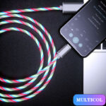 Glowing Cable Mobile Phone Charging Cables LED light Micro USB Type C Charger (8)