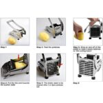 mainimage5New-French-Fry-Cutter-with-2-Blades-Stainless-Steel-Potato-Slicer-Cutter-Chopper-Potato-Chipper-For